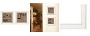 "Trendy Decor 4U Hugs / Forever 2-Piece Vignette by Deb Strain, White Frame, 15"" x 15"""
