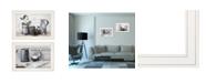 "Trendy Decor 4U Soap / Floral 2-Piece Vignette by Robin-Lee Vieira, White Frame, 21"" x 15"""