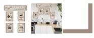 """Trendy Decor 4U Kitchen Friendship Collection II 5-Piece Vignette by Millwork Engineering, Taupe Frame, 32"""" x 10"""""""