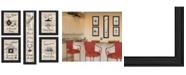 """Trendy Decor 4U Kitchen Friendship Collection 5-Piece Vignette by Millwork Engineering, Black Frame, 11"""" x 33"""""""