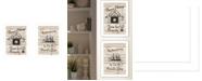 """Trendy Decor 4U Friendship Journey 2-Piece Vignette by Millwork Engineering, White Frame, 10"""" x 14"""""""