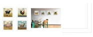 "Trendy Decor 4U Farm Animals 4-Piece Vignette by Bonnie Mohr, White Frame, 14"" x 14"""