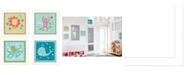 """Trendy Decor 4U Children's Room Collection By Annie LaPoint, Printed Wall Art, Ready to hang, White Frame, 28"""" x 14"""""""
