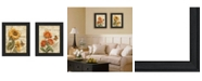 """Trendy Decor 4U Flowers Collection By Ed Wargo, Printed Wall Art, Ready to hang, Black Frame, 14"""" x 18"""""""