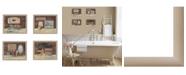 "Trendy Decor 4U Trendy Decor 4U Bathroom Collection II 4-Piece Vignette by Pam Britton, Taupe Frame, 56"" x 17"""