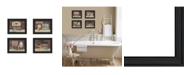 """Trendy Decor 4U Bathroom I Collection By Pam Britton, Printed Wall Art, Ready to hang, Black Frame, 13"""" x 16"""""""