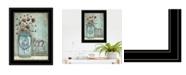 "Trendy Decor 4U Enjoy the Little Things by Tonya Crawford, Ready to hang Framed Print, Black Frame, 15"" x 19"""