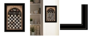 """Trendy Decor 4U Woolsey Board Game by Pam Britton, Ready to hang Framed Print, Black Frame, 15"""" x 21"""""""