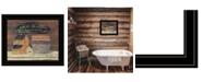 "Trendy Decor 4U HOT BATH by Pam Britton, Ready to hang Framed Print, Black Frame, 17"" x 14"""