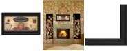 """Trendy Decor 4U Primitive and Antiques Shelves By Pam Britton, Printed Wall Art, Ready to hang, Black Frame, 33"""" x 19"""""""