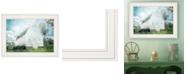 "Trendy Decor 4U White Barn by Bluebird Barn, Ready to hang Framed Print, White Frame, 19"" x 15"""