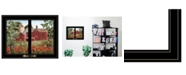 """Trendy Decor 4U Summer Days by Billy Jacobs, Ready to hang Framed Print, Black Window-Style Frame, 19"""" x 15"""""""