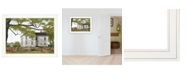 """Trendy Decor 4U Sweet Summertime House by Billy Jacobs, Ready to hang Framed Print, White Frame, 27"""" x 21"""""""