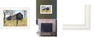 """Trendy Decor 4U Treat Yourself Mail Pouch Barn by Billy Jacobs, Ready to hang Framed Print, White Frame, 19"""" x 15"""""""