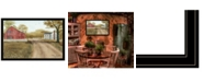 """Trendy Decor 4U Summer in the Country by Billy Jacobs, Ready to hang Framed Print, Black Frame, 38"""" x 26"""""""