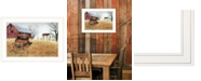 """Trendy Decor 4U Granddad's Old Truck by Billy Jacobs, Ready to hang Framed Print, White Frame, 21"""" x 15"""""""