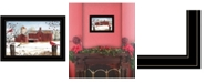 "Trendy Decor 4U Winter Days by Billy Jacobs, Ready to hang Framed Print, Black Frame, 15"" x 11"""