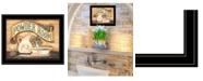 "Trendy Decor 4U Powder Room by Becca Barton, Ready to hang Framed Print, Black Frame, 13"" x 11"""