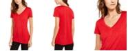 INC International Concepts INC Metallic T-Shirt, Created For Macy's