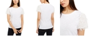 INC International Concepts INC Feather-Sleeve T-Shirt, Created for Macy's