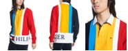 Tommy Hilfiger Men's Jacob Regular-Fit Pieced Colorblocked Logo-Print Rugby Polo Shirt