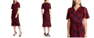 Lauren Ralph Lauren Plaid Georgette Dress