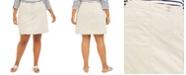 Karen Scott Plus Size Knit-Waistband Skort, Created for Macy's