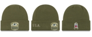 New Era Green Bay Packers On-Field Salute To Service Cuff Knit Hat