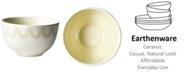 Coton Colors by Laura Johnson Ecru Arabesque Trim Small Bowl