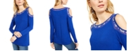 INC International Concepts INC Rhinestone Illusion Cold-Shoulder Top, Created for Macy's