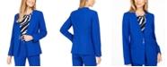 Calvin Klein Collarless Single-Snap Blazer