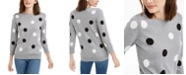 Maison Jules 3/4-Sleeve Polka-Dot Sweater, Created For Macy's