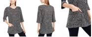 NY Collection Petite Two-Pocket Sweater