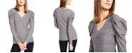 INC International Concepts INC V-Neck Puff-Sleeve Knit Top, Created For Macy's