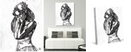 "Creative Gallery Ballet Dancer Sketch 36"" x 24"" Canvas Wall Art Print"