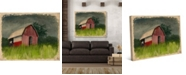 """Creative Gallery After the Storm Texas Barn 36"""" x 24"""" Canvas Wall Art Print"""