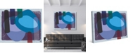 "Creative Gallery Retro Boomerang Drummer Blues Abstract 24"" x 20"" Canvas Wall Art Print"