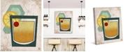 "Creative Gallery Retro Whiskey Sour on Tan 36"" x 24"" Canvas Wall Art Print"