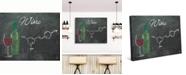 "Creative Gallery Wine Chalkboard Formula 24"" x 20"" Canvas Wall Art Print"