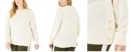 Michael Kors Plus Size Side-Snap Crewneck Sweater