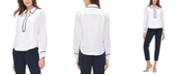 Tommy Hilfiger Iconic Ribbon Collared Blouse