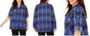 Calvin Klein Plus Size Button-Up Blouse