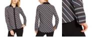 Anne Klein Milano Striped Wide-Cuff Blouse