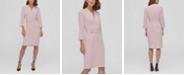 DKNY Long Sleeve Belted Luxe Coat Dress