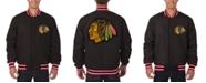 JH Design Men's Chicago Blackhawks All Wool Rev Jacket