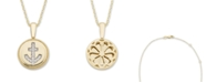 Macy's Diamond (1/20 ct. t.w.) Anchor Pendant in 14k Yellow or Rose Gold