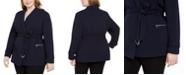 Calvin Klein Plus Size Tie-Belt Blazer