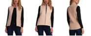 Jones New York Quilted Faux-Suede Sweater Vest