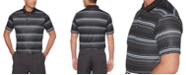 PGA TOUR Men's Big & Tall Striped Polo