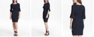 DKNY Triple Ruffle-Sleeve Dress, Created for Macy's